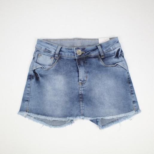 Shorts Saia Jeans com Barra desfiada 15161 - Akiyoshi