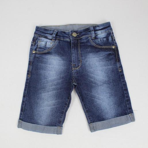 Bermuda Jeans Masculina com Barra e Ajuste 25156R - Akiyoshi