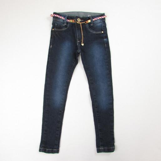 Calça Jeans Feminina com Cinto Trançado 30138 - Akiyoshi