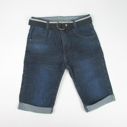 Bermuda Jeans Masculina Barra Virada com Cinto 45121P - Akiyoshi