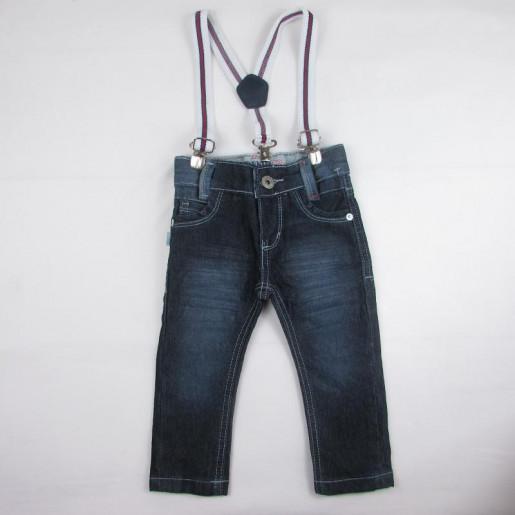 Calça Jeans Masculina com Suspensório 70046 - Akiyoshi