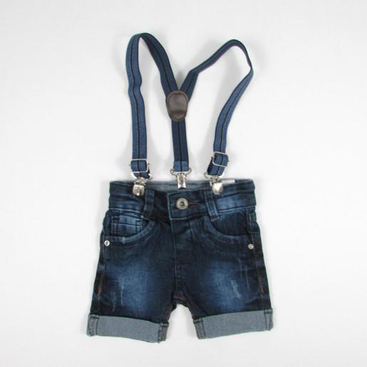 Bermuda Jeans Masculina com Suspensório 75060 - Akiyoshi