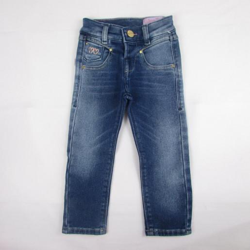 Calça Jeans Feminina com ajuste na Cintura 50538 - Miss Doll