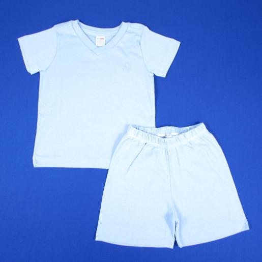 Pijama Curto Masculino Gola V 418 - Baby Fashion
