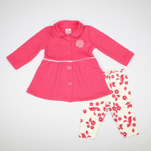 Conjunto Longo Feminino Blusa aplicação Flor e Legging Estampada 53177 - Brandili