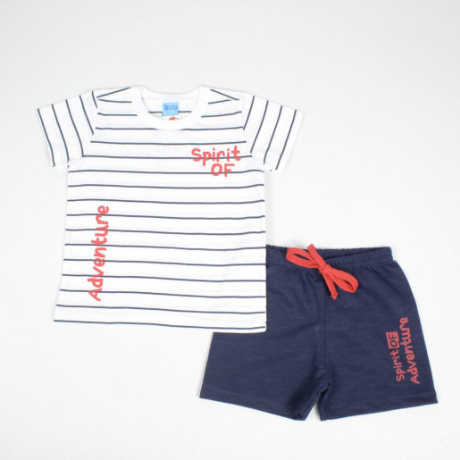 Conjunto Masculino Blusa Estampada Spirit e Bermuda Moletinho 1401461 - Bito