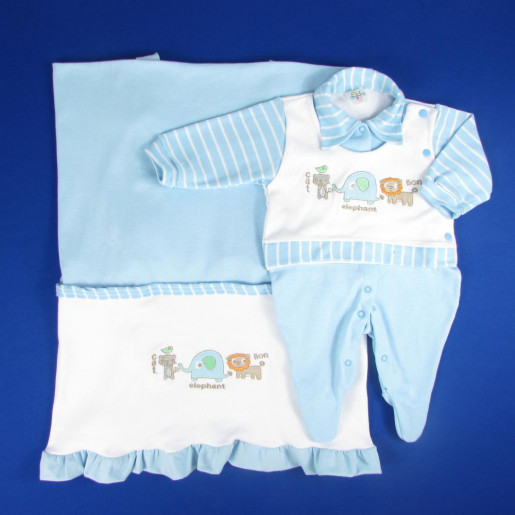 Saida Maternidade Masculina Bordada Safari 3115 - Bloomys