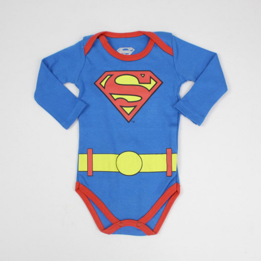 Body Manga Longa Superman S2069 - Marlan