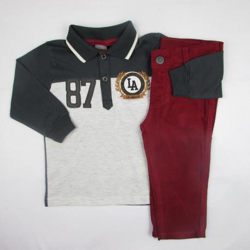Conjunto Polo Masculino com Calça Veludo 52483 - Brandili