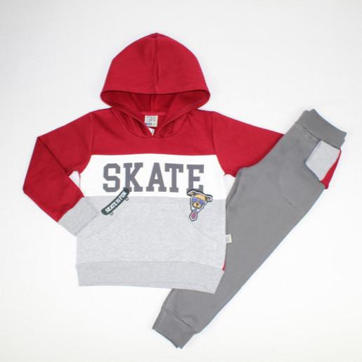Conjunto Moletom Masculino Estampado Skate com Capuz 5076 - Brincar é Arte