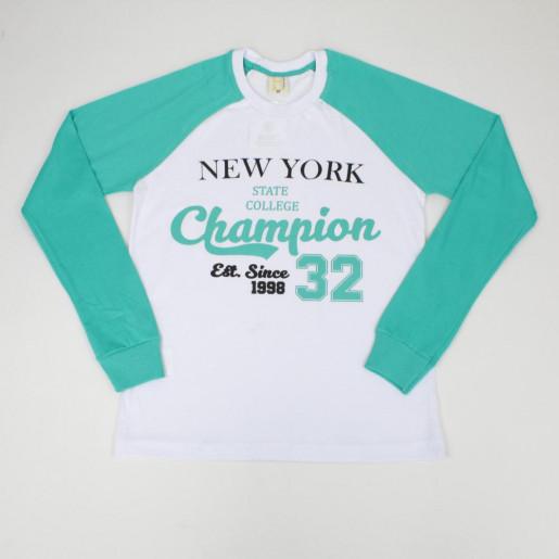 Camiseta Manga Longa Estampada New York 11358 - Hrradinhos
