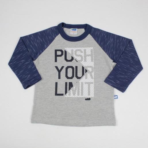 Camiseta Manga Longa Estampada Push 22515 - Marlan