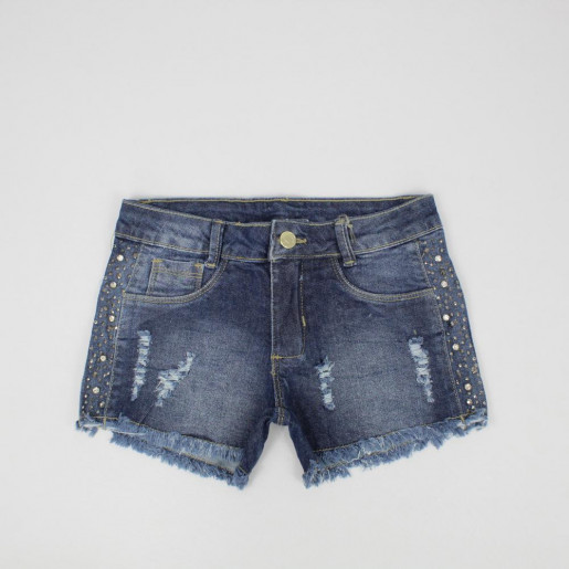 Shorts Jeans com Strass 3367 - Clube do Doce
