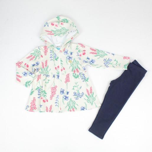 Conjunto Longo Feminino Blusa Floral com Capuz e Legging 21965 - Elian