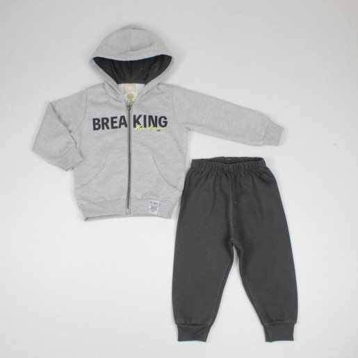 Conjunto Moletom Masculino Estampado Brea King com Capuz 172356 - Colorittá