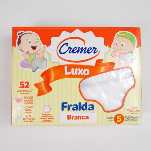 Fralda Luxo Branca com 05 Peças 3109 - Cremer