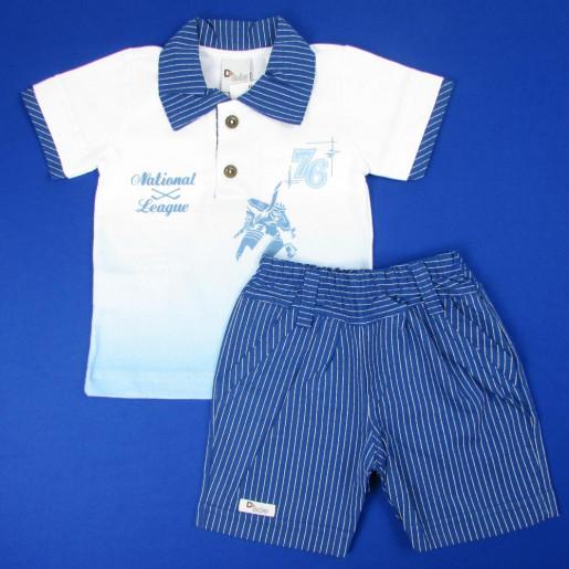 Conjunto Masculino Polo com Listra 50019 National - D+Baby