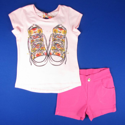 Conjunto Feminino com Shorts de Sarja 4530 Tênis - Ding Dang