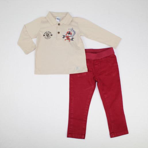 Conjunto Masculino Polo Silk Adventure e Calça Sarja 5836 - Ding Dang