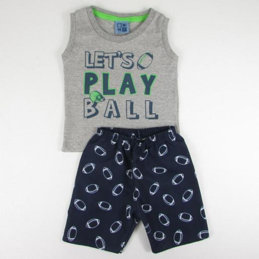 Conjunto Masculino Regata Estampado Play Ball 1297084 - Duduka