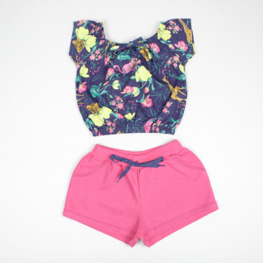 Conjunto Feminino Blusa Cigana Estampada e Shorts 5553 - Duzizo