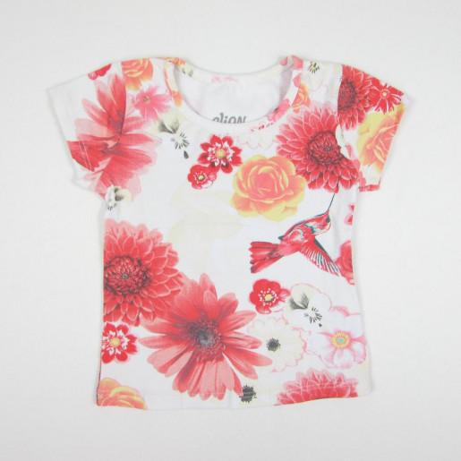 Blusa Manga Curta Estampada Flores 231095 - Elian