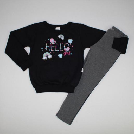 27704ec56 Conjunto Longo Feminino Blusa Estampada Hello e Legging 231184 - Elian