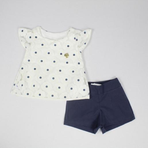 Conjunto Feminino Blusa Devorê e Shorts Tecido 231266 - Elian