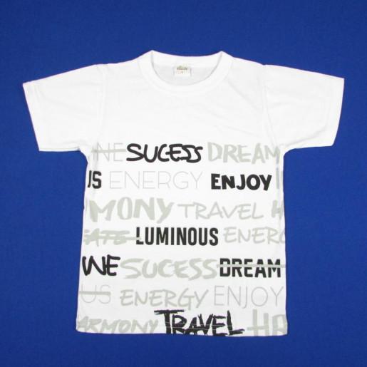 Camiseta Manga Curta Estampada Frases 24853 - Elian