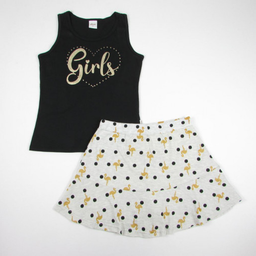 Conjunto Feminino Blusa Estampada Gilrs e Saia 251128 - Elian