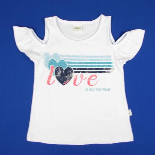 Blusa com Recorte no Ombro Estampada Love  251136 - Elian