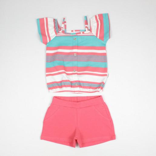 Conjunto Feminino Blusa Listrada e Shorts 251235 - Elian
