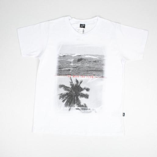 Camiseta Manga Curta Estampada Praia 26606 - Elian