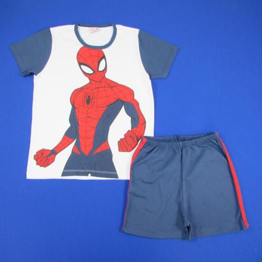 Pijama Curto Masculino Estampado Homem Aranha 27050056 - Evanilda
