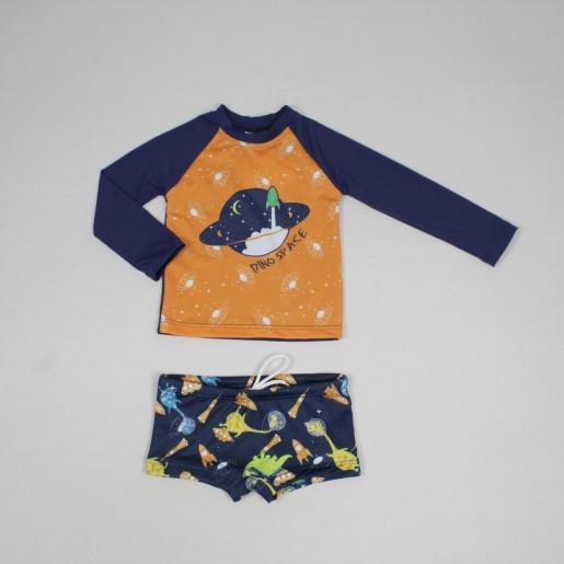 Conjunto Sunga Boxer e Camiseta Estampado Espaço 62000 - Everly