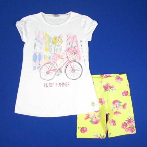 onjunto Feminino Blusa Estampada Enjoy Summer e Bermuda 3073 - Fakini