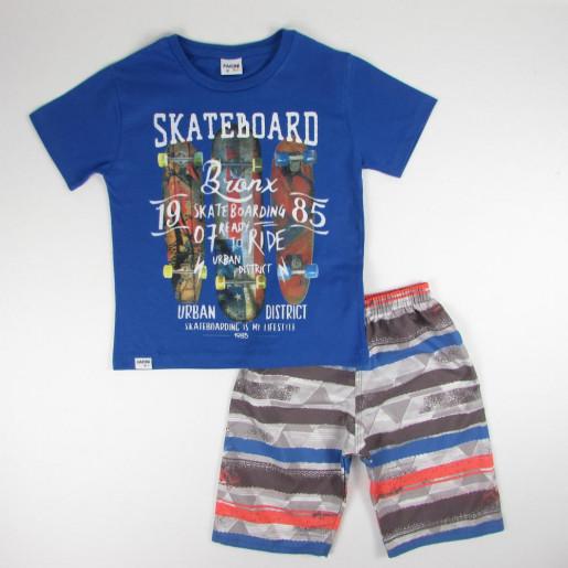 Conjunto Masculino Estampado Skate Board 3254 - Fakini