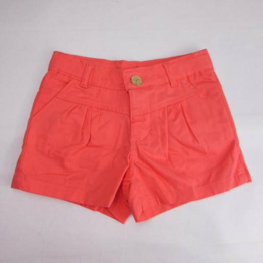 Shorts Feminino de Sarja Colorido com Pregas 5906 - Fakini