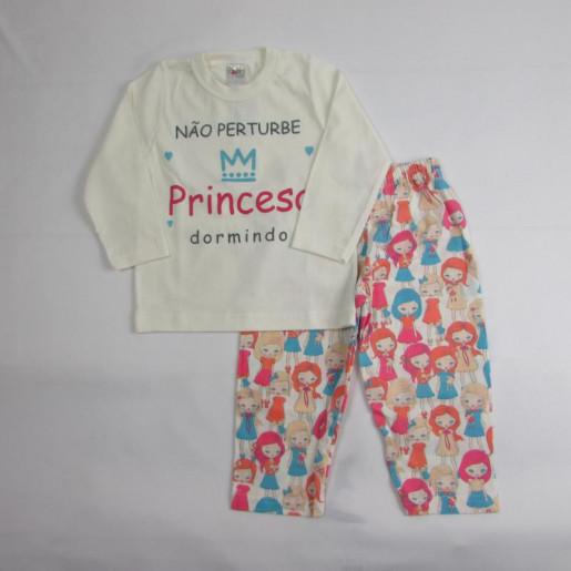 Pijama Feminino 1067 Princesa - Gaga Baby