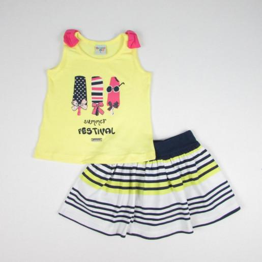 Conjunto Feminino Blusa Estampada Sorvetes e Saia 21269 - Have Fun
