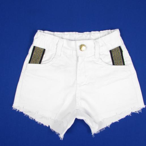 Shorts Sarja com Faixa Brilhosa no Bolso 21304 - Have Fun