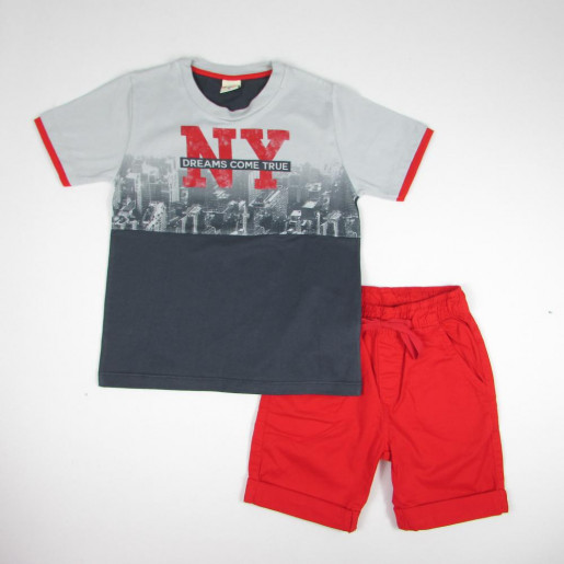 Conjunto Masculino Camiseta Estampada Ny Dreams e Bermuda Sarja 21427 - Have Fun