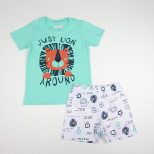 Pijama Curto Masculino Estampado Leão 21475 - Have Fun