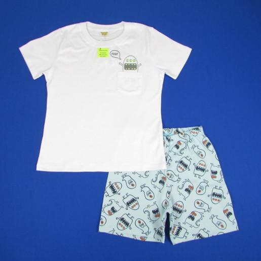 Pijama Curto Masculino Estampa  Brilha no Escuro com Bolso 21481 - Have Fun