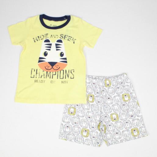 Pijama Curto Masculino Estampado Champions 22622 - Have Fun