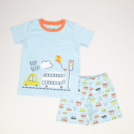 Pijama Curto Masculino Estampado Carro 22623 - Have Fun