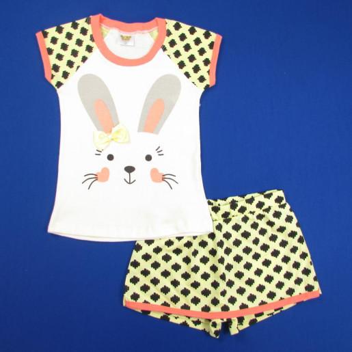 Pijama Curto Feminino Estampado Coelhinha 21183 - Have Fun