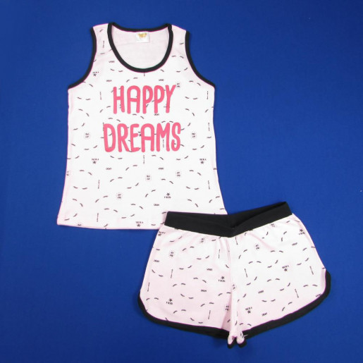 Pijama Curto Feminino Estampado Happy 21186 - Have Fun