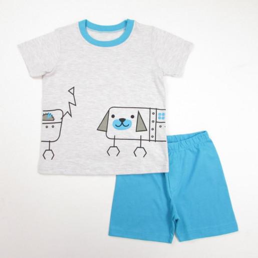 Pijama Curto Masculino Estampado Cachorro 21199 - Have Fun