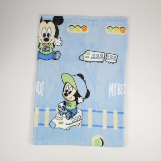 Manta Microfibra Disney Estampado Michey e Trem  - Jolitex